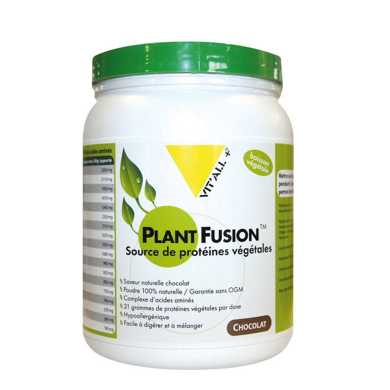 Protéines végétales plant fusion au chocolat en boite de 454 g 370329