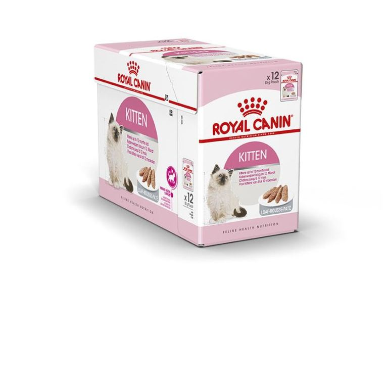 Sachets de Kitten mousse pour chaton Royal Canin - 12x85 gr 370986