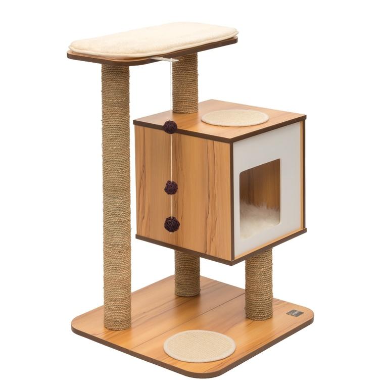 Arbre à chat Vesper Base en bois coloris noyer 371202