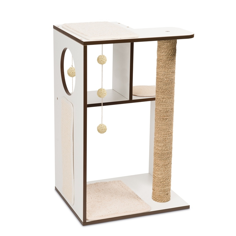 Arbre à chat Vesper Box L en bois coloris blanc 371211