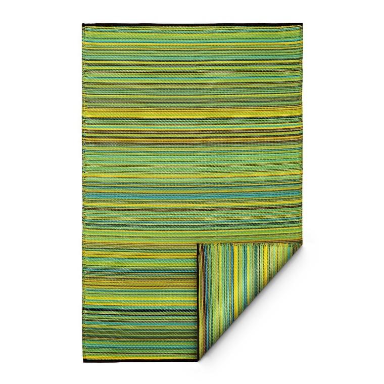 Tapis Cancun jaune vert intérieur / extérieur 120 x 180 cm 371485