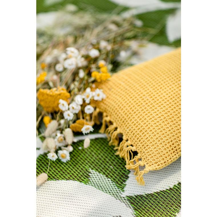 Tapis Bali vert et beige - 150x240 cm 371494