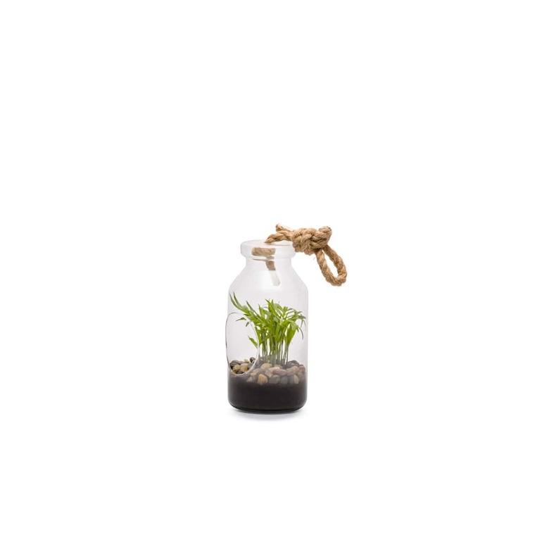 Terrarium Bottle S en verre à poser ou suspendre Ø 10 x H 18 cm 371718