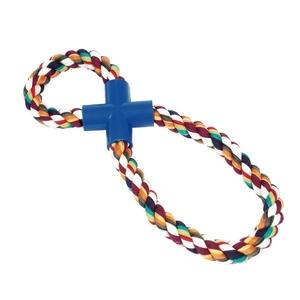 Jouet chien corde Super 8 multicolore 30cm