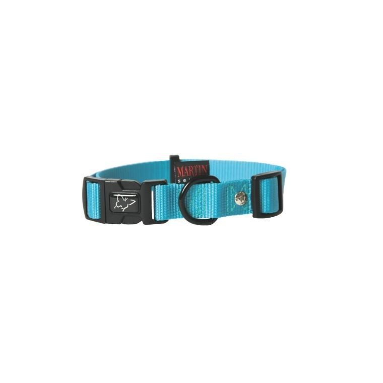 Collier chien réglable 25mm / 45-65cm bleu 37287