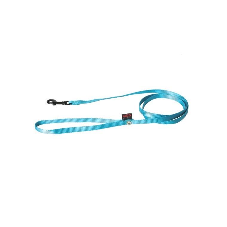Laisse chien nylon 10 mm / 120 cm bleu