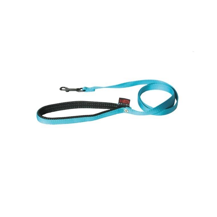 Laisse chien nylon 16 mm / 120 cm bleu 37295
