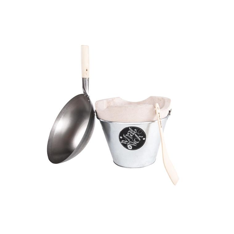 Kit Wok nomade avec 1 wok, 1 four portatif et 1 spatule WHAT A WOK
