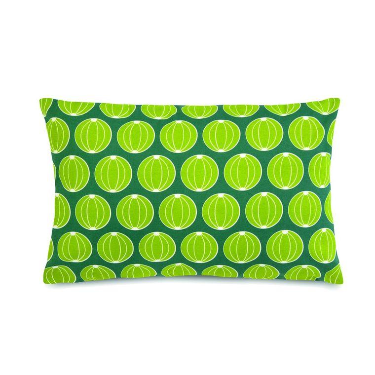 Coussin envie d'ailleurs melons vert de jade 68 x 44 cm