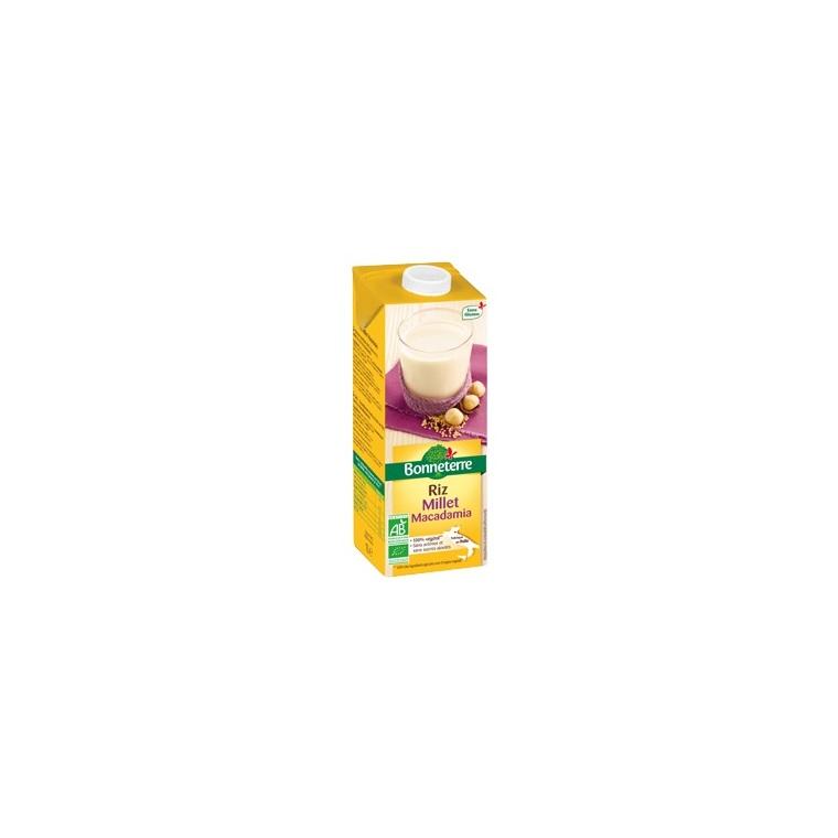 Boisson au riz millet et macadamia Bonneterre bio 1 L 373727