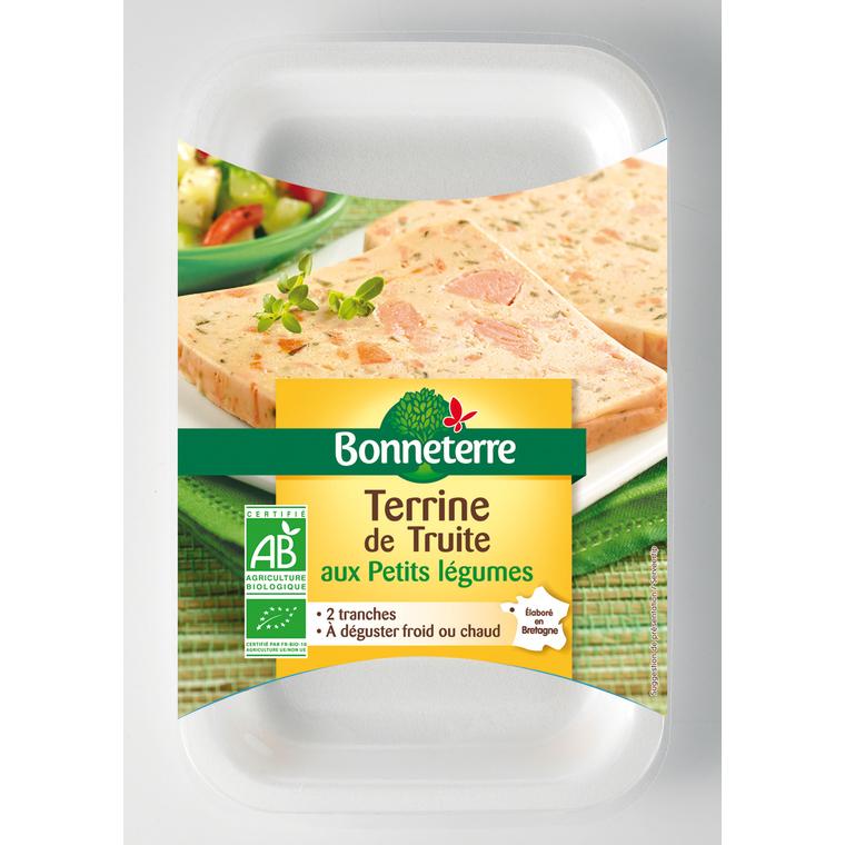 Terrine de truite aux petits légumes Bonneterre bio 2 x 60 g 373731