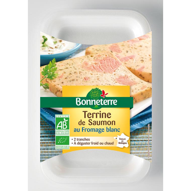 Terrine de saumon au fromage blanc Bonneterre bio 2 x 60 g 373732