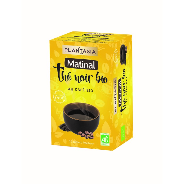 Thé noir et café bio Plantasia matinal 36 g 373763