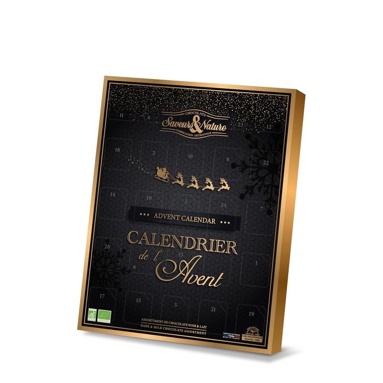 Calendrier de l'Avent traditionnel chocolats bio 373791