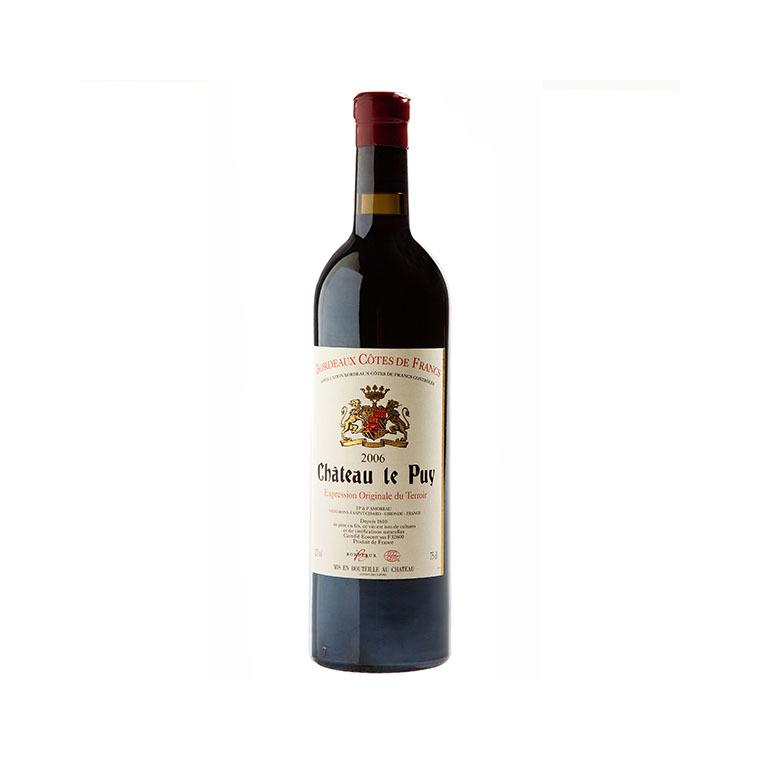 Vin rouge des côtes de francs AOC château Le Puy 75 cl