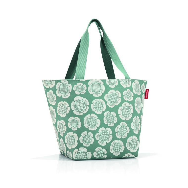 Sac Shopper taille M Vert motifs fleurs 51x30,5x26 cm 374627