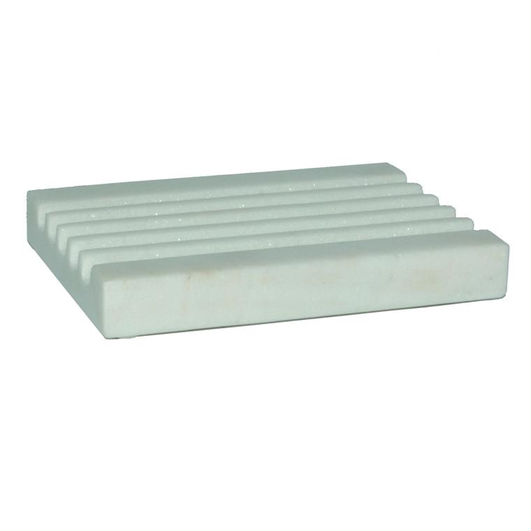 Porte savon rectangulaire en stéatite noir 12x8,5x1,7 cm 374910