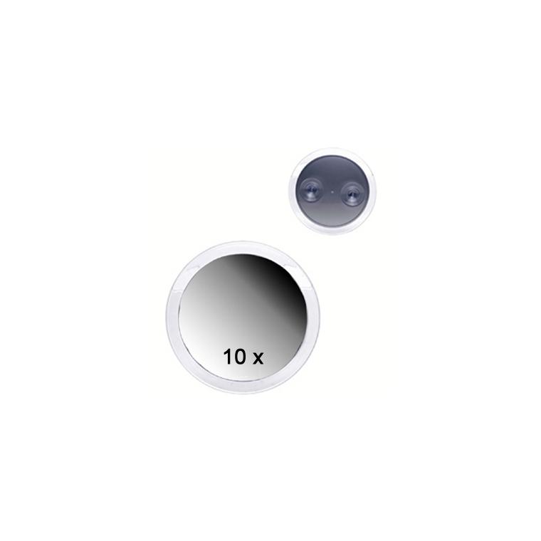 Miroir ventouse x10 Ø15cm,2x2,5 cm 374952