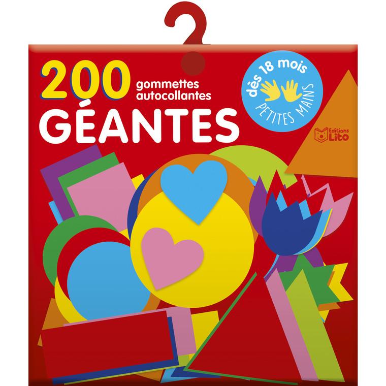 200 Gommettes Géantes pour les Tout-petits Les Gommettes Autocollantes 0 à 3 ans Éditions Lito 374979