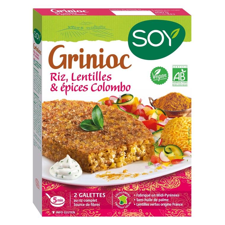 Grinioc de riz lentilles et colombo bio 200 g 37670