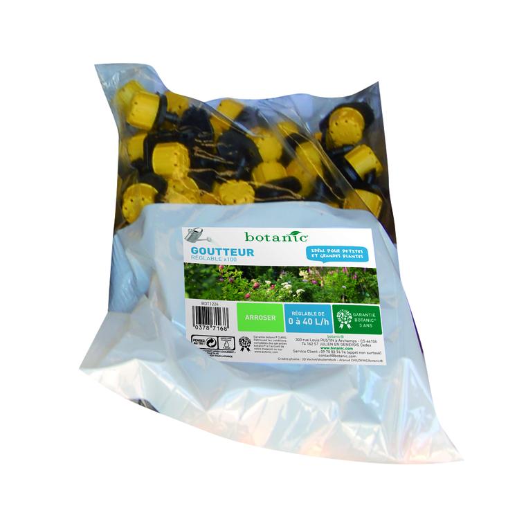 Goutteur réglable jaune x 100 378716