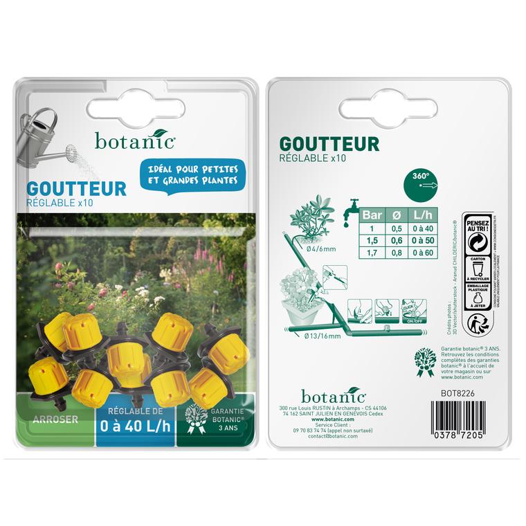Goutteur réglable jaune x 10 378720