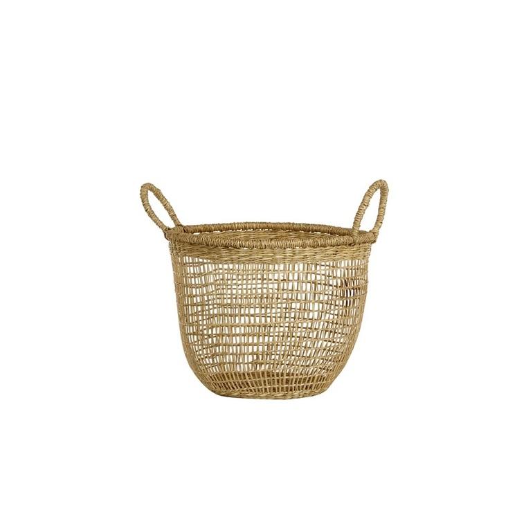 Corbeille ronde jacinthe d'eau naturel taille S 378983