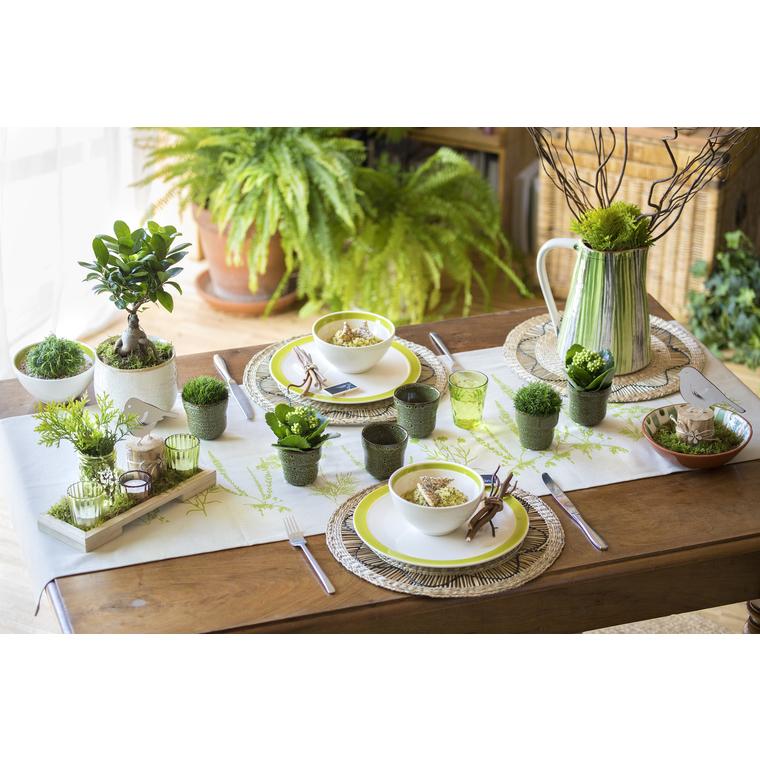 Set de table jacinthe d'eau naturel Ø 36 cm 378993