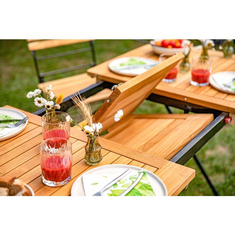 Table pliante extensible rectangulaire Norma 120/160 x 70 x 74 cm 379141