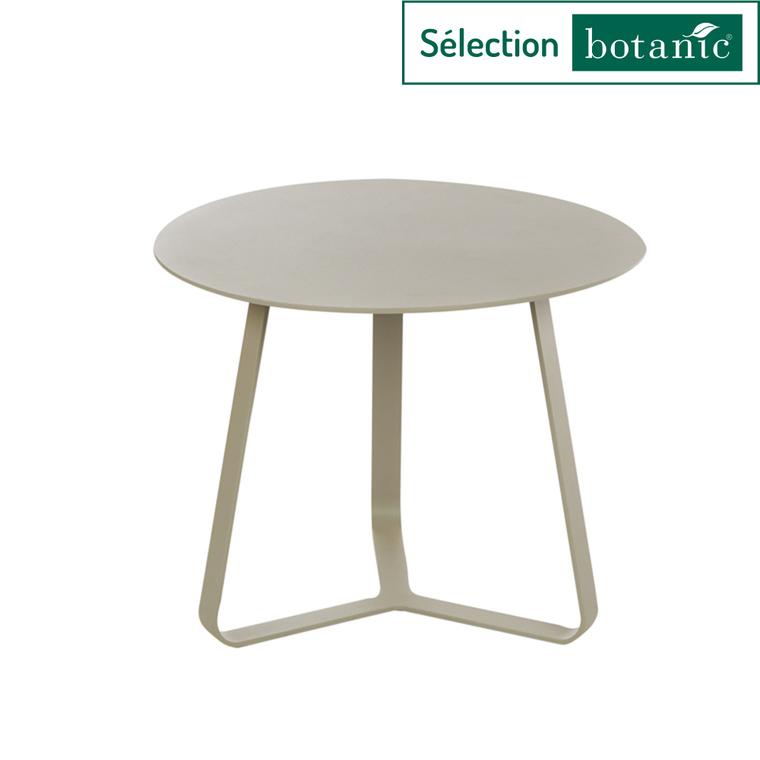 Table basse en aluminium coloris sable Ø45 x H 35 cm 379152