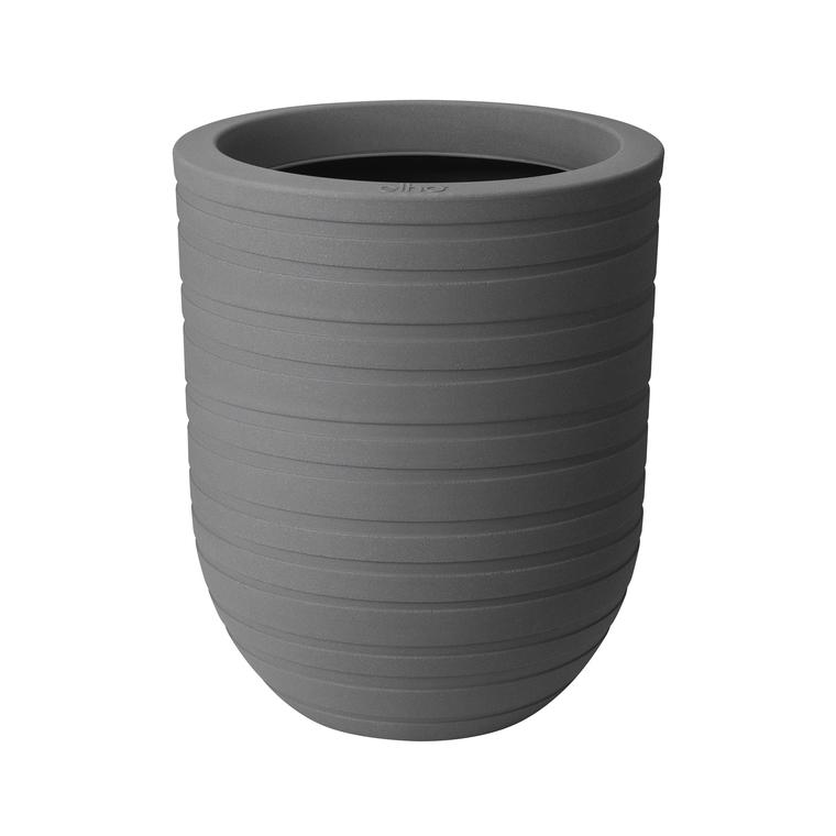 Pot rond gris en argile minéral  Allure Ribbon 65 litres 379157