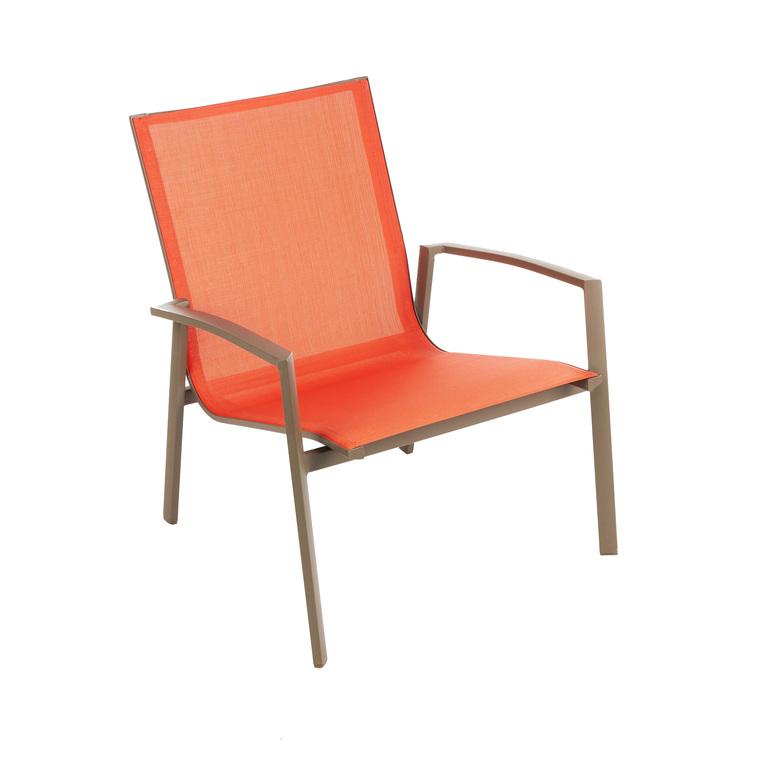 Fauteuil bas Caméline orange 379202