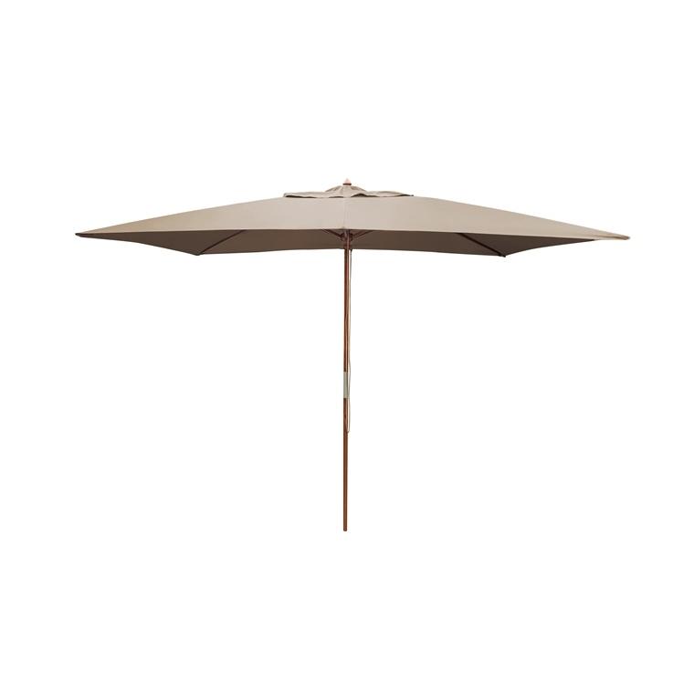 Parasol rectangulaire  bois taupe 379215