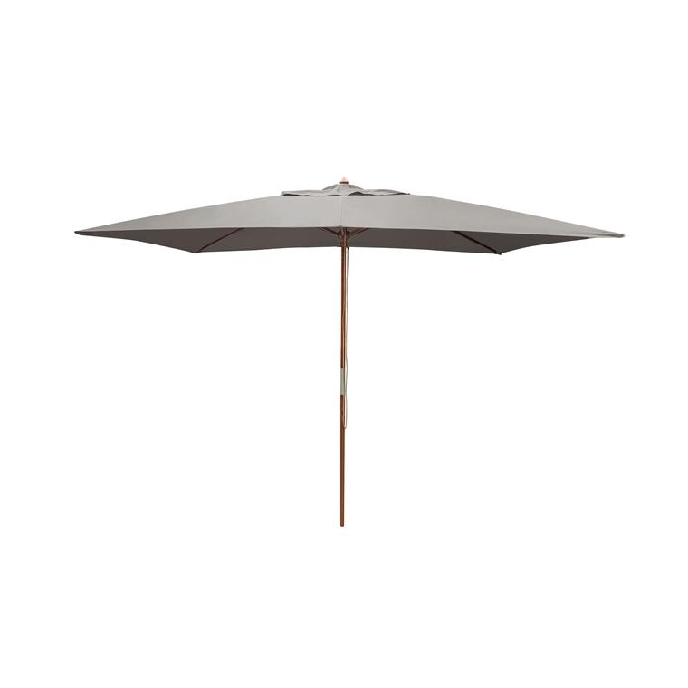 Parasol rectangulaire  bois gris 379216