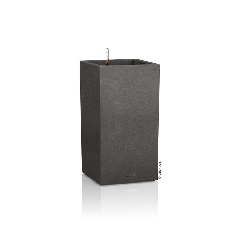 Pot carré haut beige gamme Canto color L30xl30xH56 cm 379582