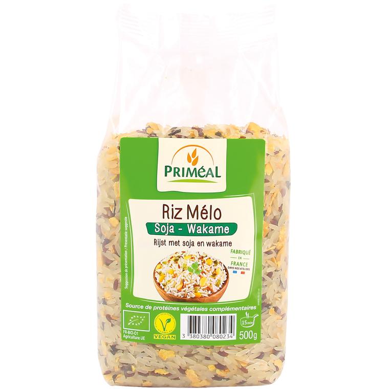 Riz mélo soja et wakame bio en sachet de 500 g 380874