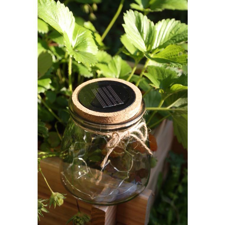 Lanterne Somaya verre et liège 12,5cm 381103