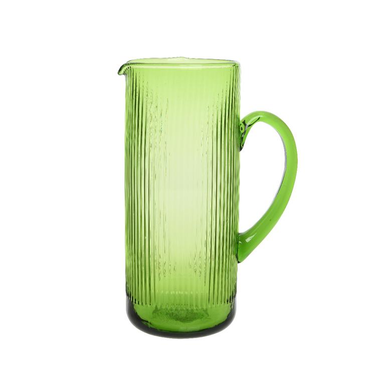 Cruche décorée lignes vertes 381764