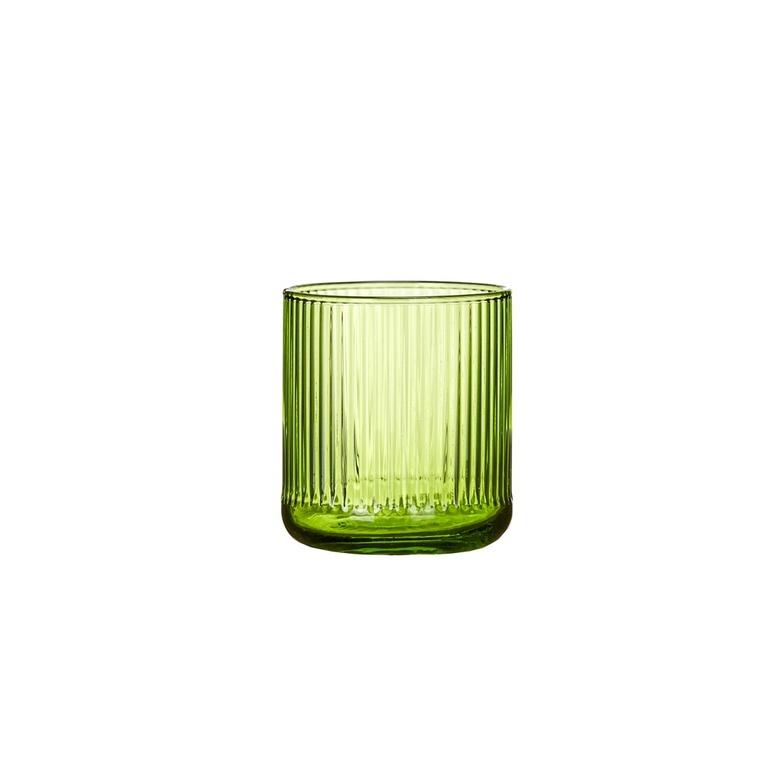 Verre décoré lignes vertes 381768
