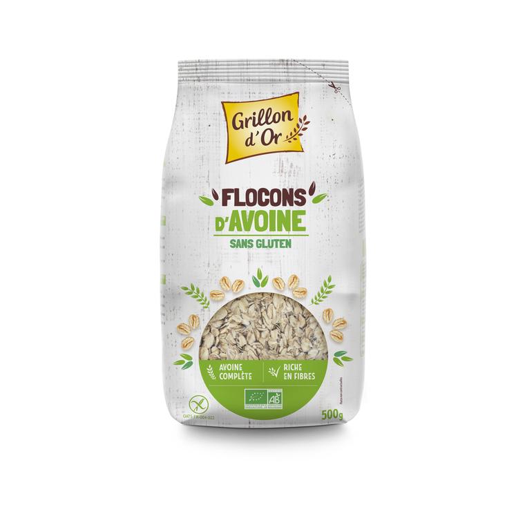Flocons d'avoine sans gluten bio 500 g 381851