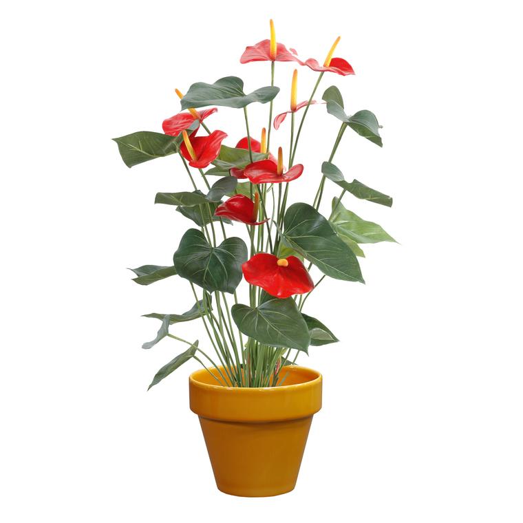 Pot horticole émaillé orange Ø 25 cm 381978