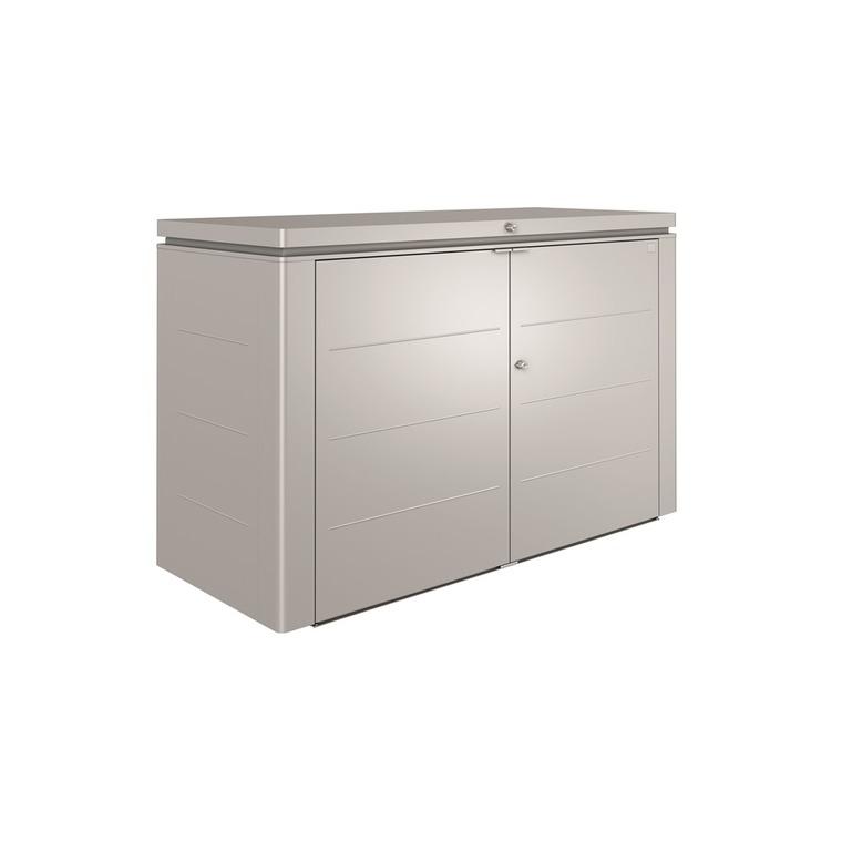 Coffre highboard couleur argent 200x84x127 cm 382355