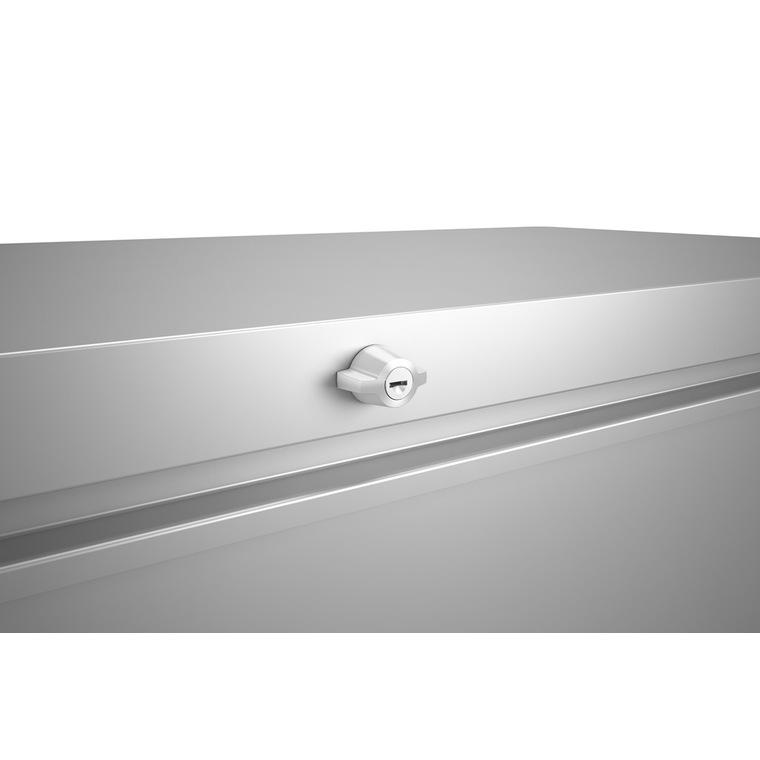 Coffre loungebox argent métallisé 160x70x83,5 cm 382362