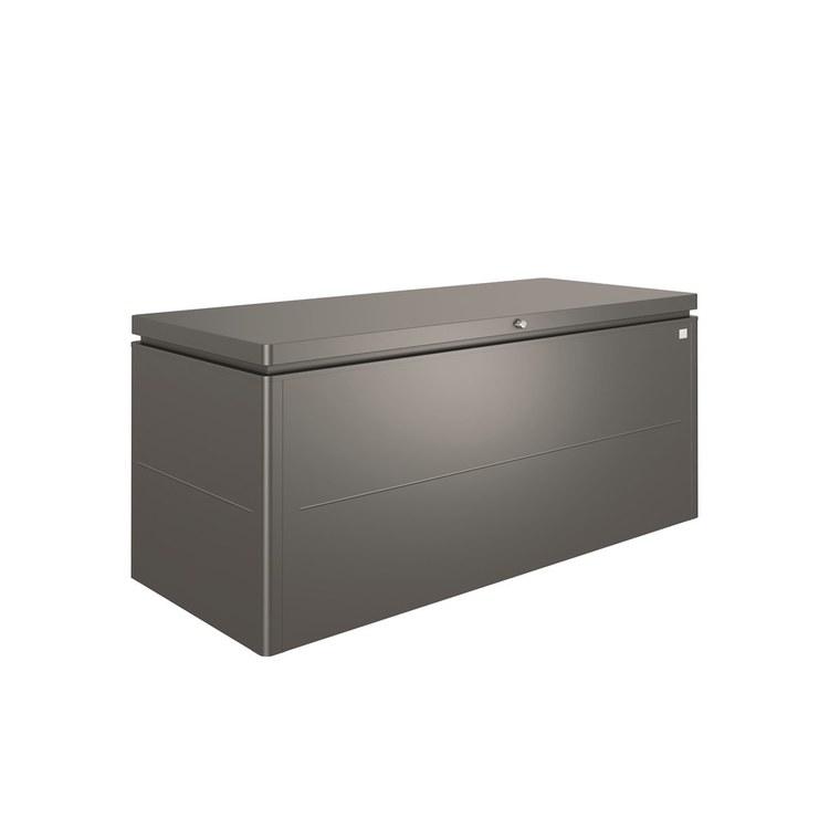 Coffre loungebox gris foncé 200x84x88,5 cm 382371