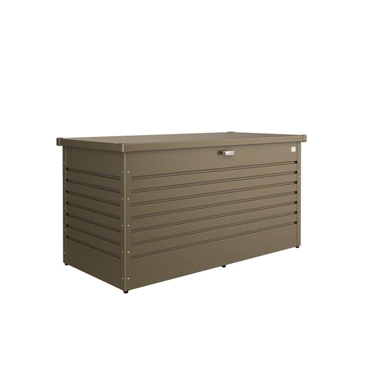 Coffre de jardin bronze métallique 160x79x83 cm 382405