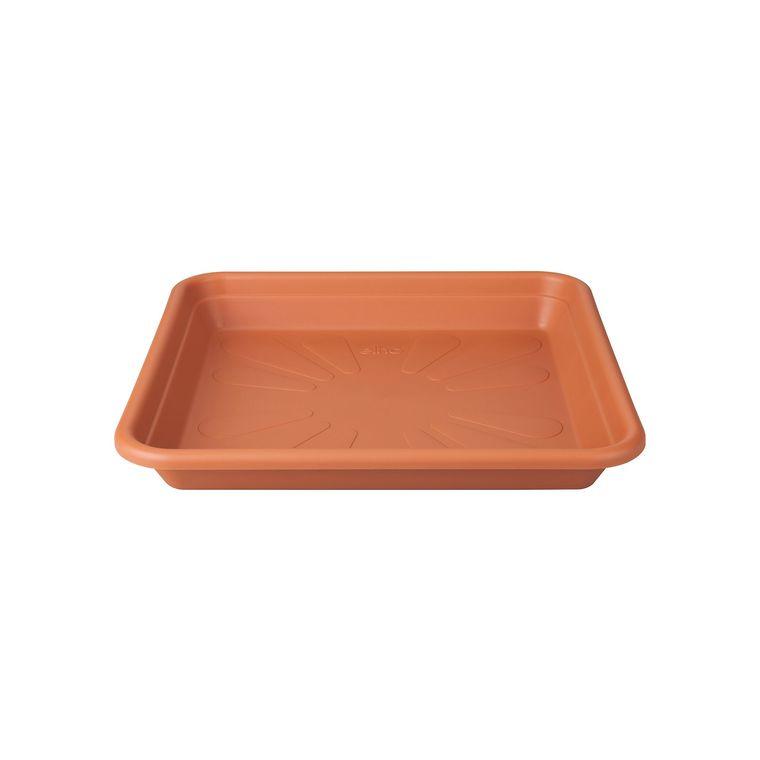 Soucoupe Carrée couleur terre cuite – 20x20x3 cm 382486