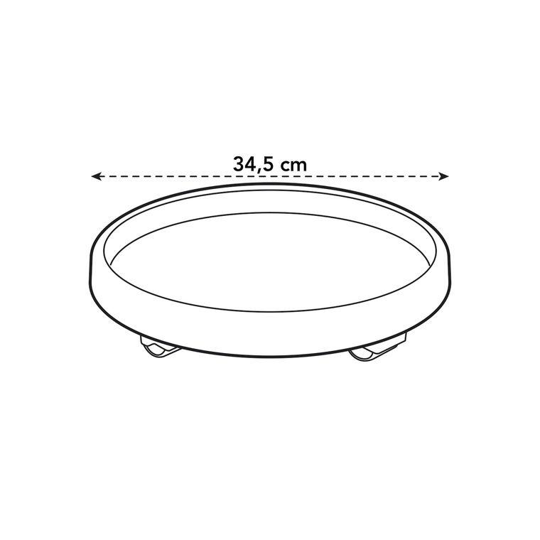 Soucoupe à roulettes couleur terre cuite - Ø 34.5x5.1 cm 382509