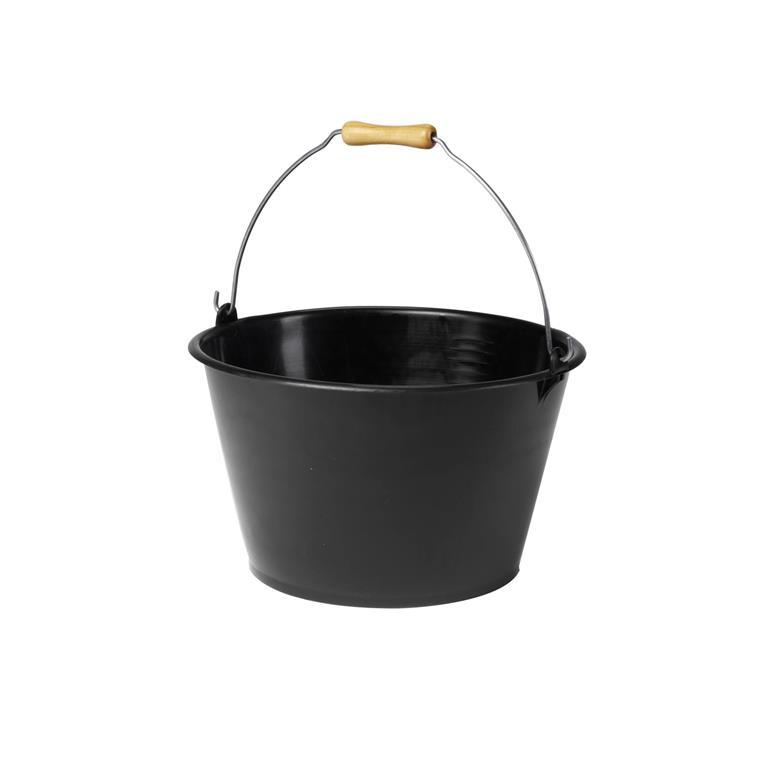 Seau à veau noir - 15,5L