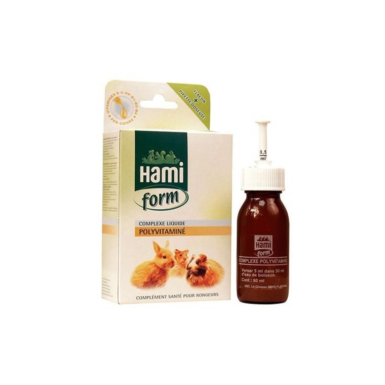 Complexe liquide polyvitaminé Hamiform pour rongeurs 60ml 383930
