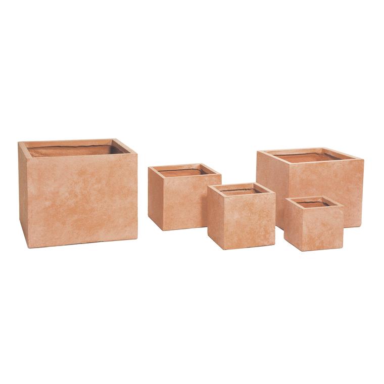 Pot carré gamme Genève L28xl28x H28 cm 385472